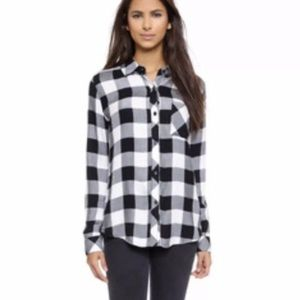 Rails Hunter Buffalo Check Button Front Shirt S